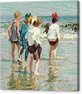 Summer Day Brighton Beach Canvas Print