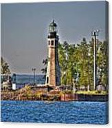 Summer Day View Of The Lighthouse  Canvas Print
