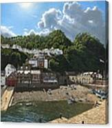 Summer Evening Clovelly North Devon Canvas Print