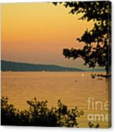 Summer Evening On Cayuga Lake Canvas Print
