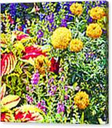 Summer Flower Garden Poster Print Canvas Print