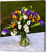 Summer Flowers Featured 3 Canvas Print