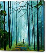 Summer Forest - Palette Knife Oil Painting On Canvas By Leonid Afremov Canvas Print