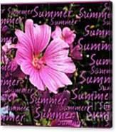 Summer Greetings Canvas Print