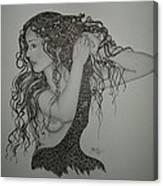 Summer Hair Canvas Print
