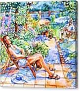 Summer In An Irish Garden  Canvas Print