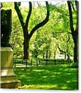 Summer In Central Park Manhattan Canvas Print