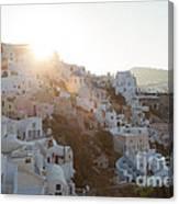 Summer In Santorini Canvas Print