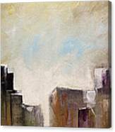 Summer In The City Abstract Geometric Original Painting On Canvas Canvas Print