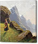 Summer In The Fjord Canvas Print