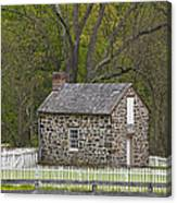 Summer Kitchen In Spring - Colonial Stone Canvas Print