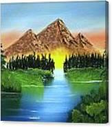 Summer Lake Sunrise Canvas Print