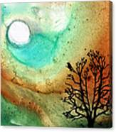 Summer Moon - Landscape Art By Sharon Cummings Canvas Print