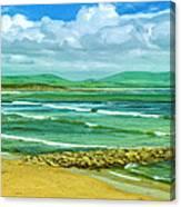 Summer On The Irish Coast Canvas Print