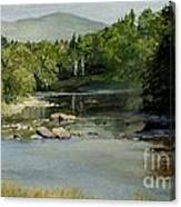 Summer On The River In Vermont Canvas Print