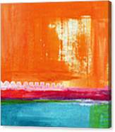 Summer Picnic- Colorful Abstract Art Canvas Print