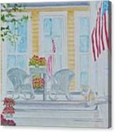print Summer Porch and Flag for sale Canvas Print