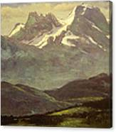 Summer Snow On The Peaks Or Snow Capped Mountains Canvas Print