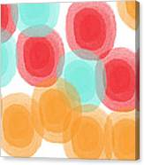 Summer Sorbet- Abstract Painting Canvas Print