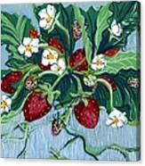 Summer Strawberries Canvas Print
