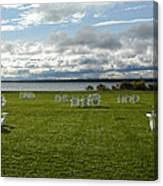 Summer Stretching On The Grass Canvas Print