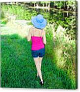 Summer Stroll In The Park - Art By Sharon Cummings Canvas Print