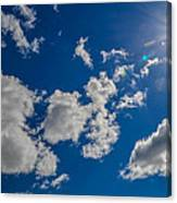 Summer Sun With Clouds Canvas Print