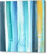 Summer Surf- Abstract Painting Canvas Print