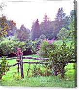 Summer Valley Fence Canvas Print