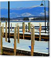 Summers Docked For Winter Canvas Print