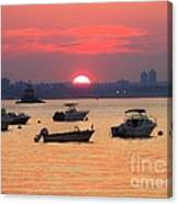 Late Summer Sunset Over The Bay Canvas Print