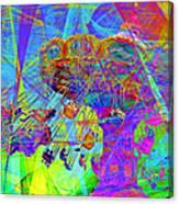 Summertime At Santa Cruz Beach Boardwalk 5d23905 Canvas Print