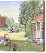 Summertime At The Gazebo Canvas Print