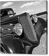 Summertime Blues In Black And White - Ford Coupe Hot Rod Canvas Print