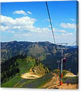 Summertime Chairlift Ride Canvas Print