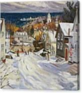 Summit Avenue In Winter Canvas Print