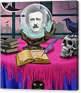 Summoning Edgar Allan Poe Canvas Print