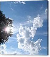 Sun And Cloudburst Canvas Print