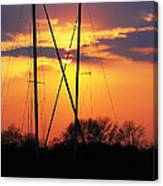 Sun And Masts Canvas Print