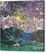 Sun And Moon Night Canvas Print