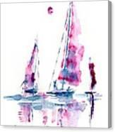Sun And Sails Canvas Print