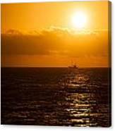 Sun And Ship Canvas Print