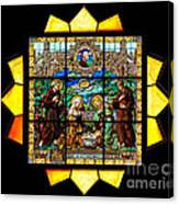 Sun Burst Stained Glass Canvas Print