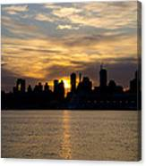 Sun Comes Up On New York City Canvas Print