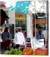 Sun Dappled Umbrella - Cool Fruit On A Hot Day Canvas Print