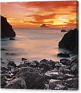 Sun Descends On Northcoast Canvas Print