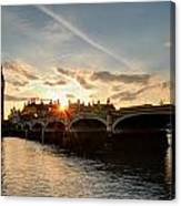 Sun Down London Canvas Print