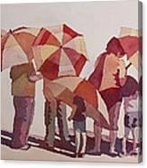 Sun Drenched Parasols  Canvas Print