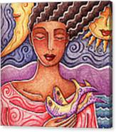 Sun Fish Moon Canvas Print