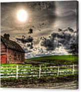 Sun Gazing Upon An Old Barn Canvas Print